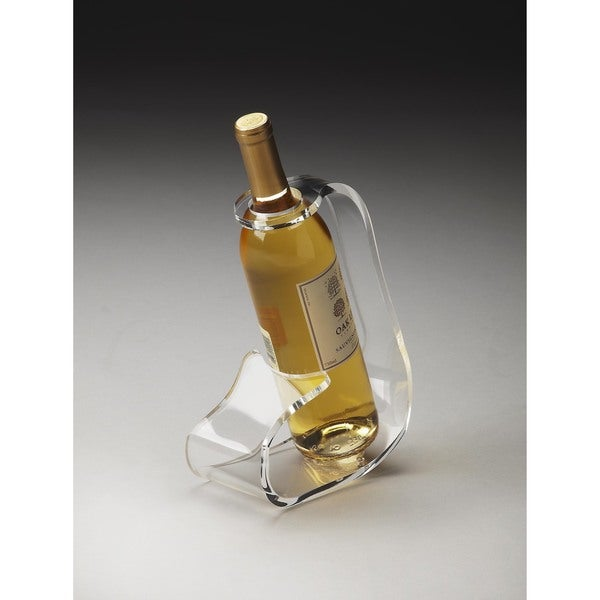 Butler Crystal Clear Acrylic Wine Bottle Stand