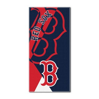 MLB 622 Red Sox Puzzle Beach Towel