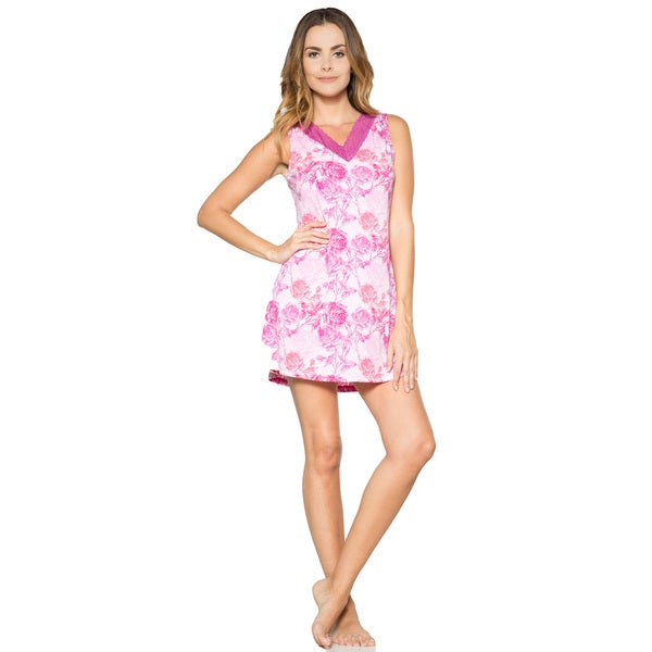 Rhonda Shear Printed Short Gown