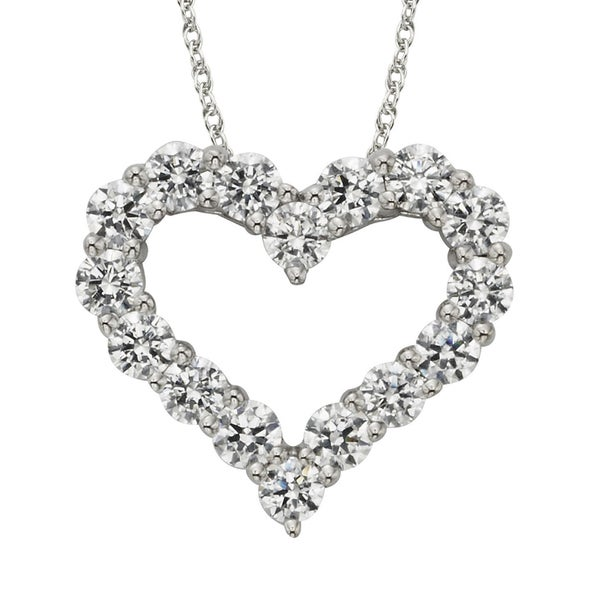 H Star 14k White Gold Diamagem Necklace