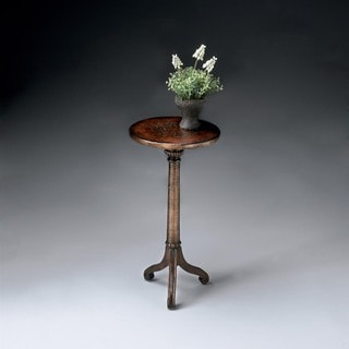 Handmade Florence Brown and Gold Pedestal Table