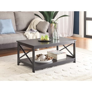Convenience Concepts 203082 Wood 39.38-inch x 21.63-inch x 17.75-inch Oxford Coffee Table