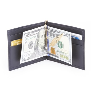 Royce Leather Genuine Leather RFID Blocking Money Clip Credit Card Wallet