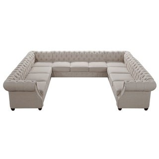 Moser Bay Furniture Garcia Roll Arm 11-seat U Sectional Sofa Collection