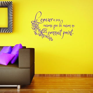 Style and Apply 'Le Coeur' Vinyl Decal Sticker Mural Art