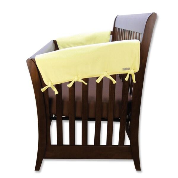 Trend Lab CribWrap Yellow Cotton Medium 2 Short Jersey Rail Covers