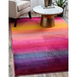 Unique Loom Turkish Barcelona Multicolor/Burgundy/Gold/Red Polypropylene/Synthetic/Cotton Rug (7' x 10')