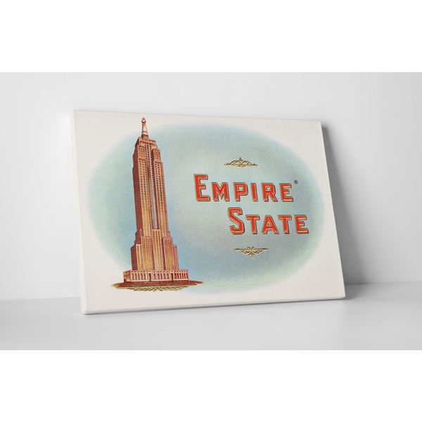 Cigar Label Art 'Empire State' Gallery Wrapped Canvas Wall Art