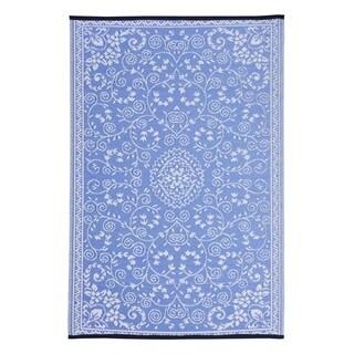 Blue Classic Indoor/Outdoor Reversible Area Rug Blue (5' x 8')
