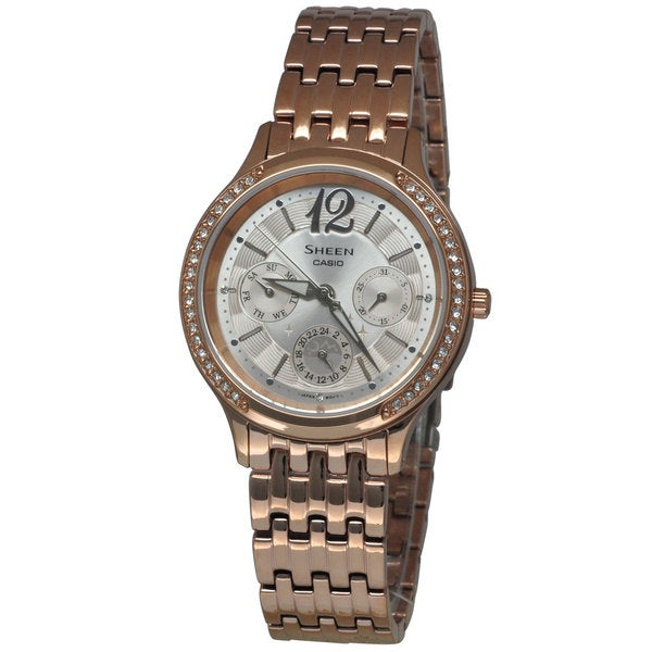 Casio Women's SHE3030PG-9A Sheen Rose Gold Watch