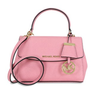 Michael Kors Ava Misty Rose Mini Crossbody Handbag