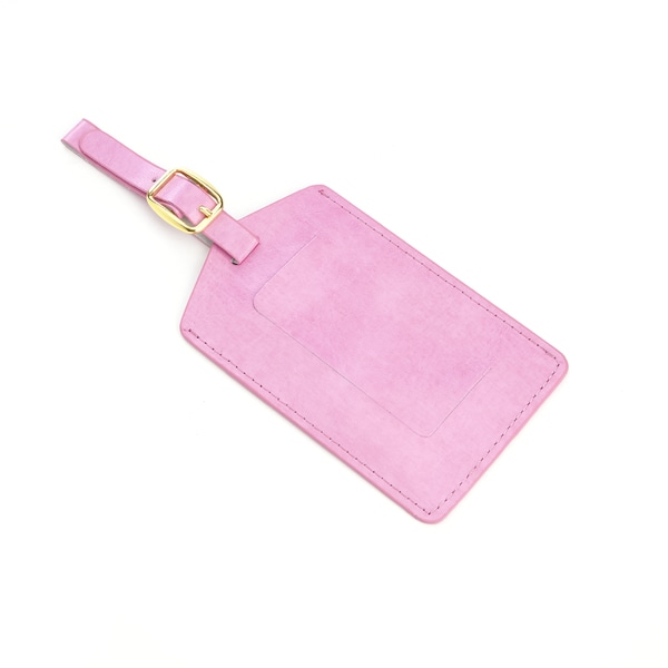 Royce Leather Pink Luggage Tag Identification in Support of Breast Cancer Research