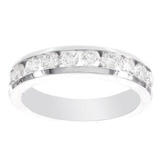 H Star 14k White Gold 1/4ct Diamond Band (I-J, I2-I3)