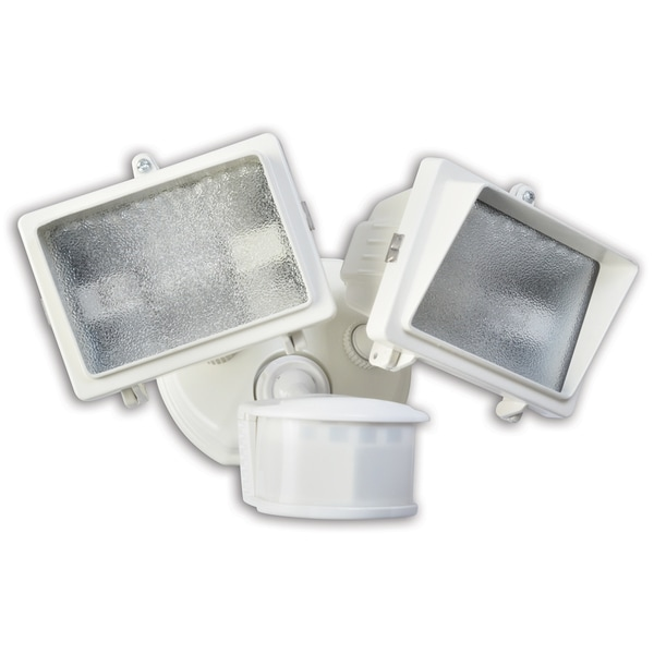 Woods L6008WH White 300 Watt Twin Halogen Flood Light