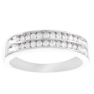 H Star 10k White Gold 1/4ct Diamond Ring (I-J, I2-I3)
