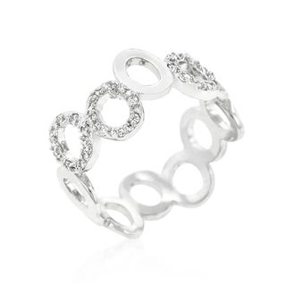 Kate Bissett Brass Cubic Zirconia Staggering Hoop Eternity Band