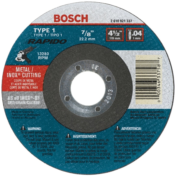 Bosch/rotozip/skil TCW1S450 Grinding Wheel 4-1/2X.040