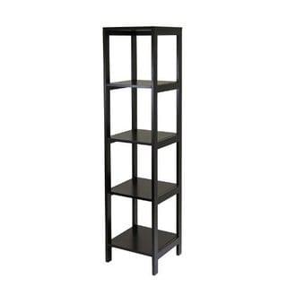 Hailey Brown Wood 5-tier Modular Tower Shelf