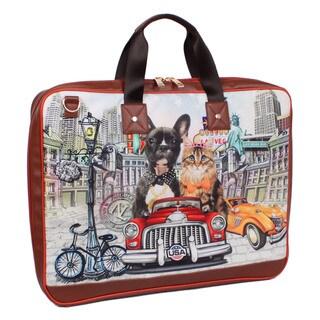 Nicole Lee Aleena Multicolor Nylon/Synthetic Leather 38-inch Garment Bag