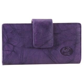 Buxton Heiress Leather Metropolitan Wallet
