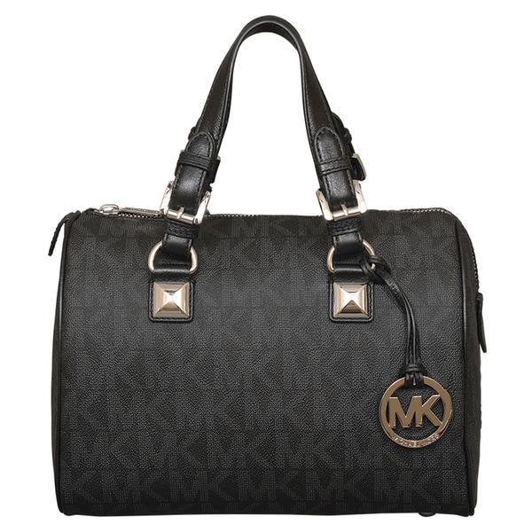 Michael Kors Medium Grayson Black Satchel Handbag