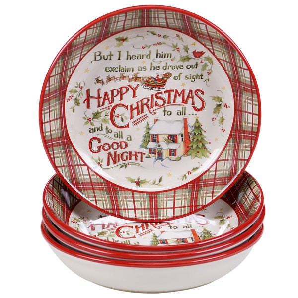 Certified International The Night Before Christmas Soup/Pasta Bowl (Pack of 4)