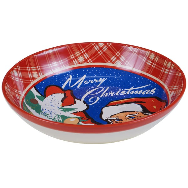Certified International Retro Christmas Serving/Pasta Bowl