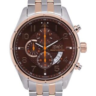 Brandt & Hoffman Sagan Men's Chronograph Watch Multi-Textured Dial with Textured Subdials