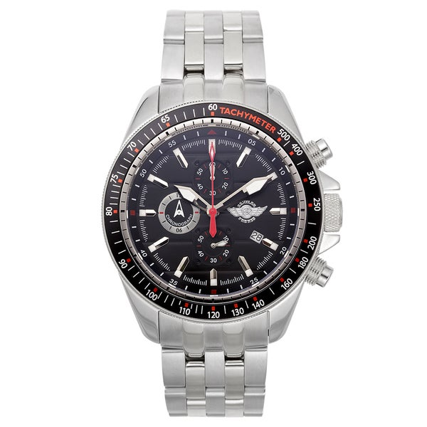 Zentler Freres Chimaera Men's Chronograph Watch Stainless Steel Case Colored Tachymeter