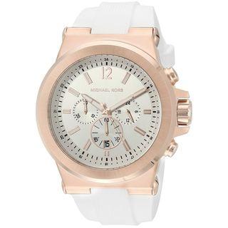 Michael Kors Men's MK8492 'Dylan' Chronograph White Silicone Watch