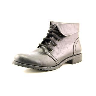 White Mountain Women's Tango Black Faux Leather Boots