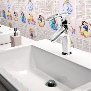 Disney 11.75x11.75-inch Princesses Sparkle Glass Mosaic Wall Tile