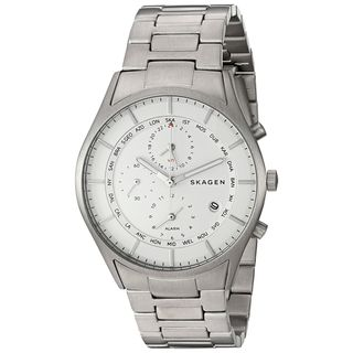 Skagen Men's SKW6286 'Holst' World Time and Alarm Chronograph Titanium Watch
