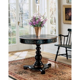 Butler Regal Black Wood Antique-finished Hand-painted Accent Hall Table
