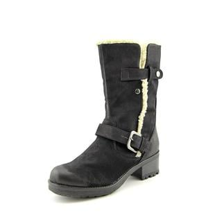 White Mountain Women's Battery Black Faux Leather Boots