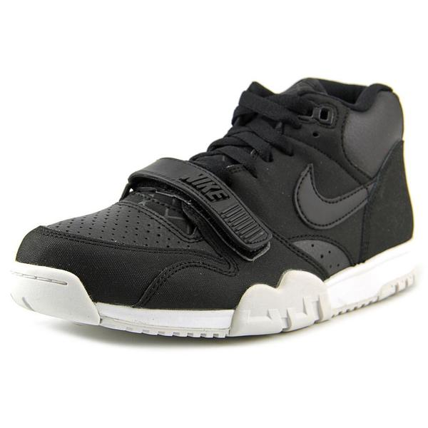 Nike Men's 'Air Trainer 1 Mid' Leather Athletic Shoes Size 8 in Black (As Is Item)