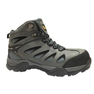 Golden Retriever Footwear Men's Grey/Black Mesh/Leather/Rubber Work Boot