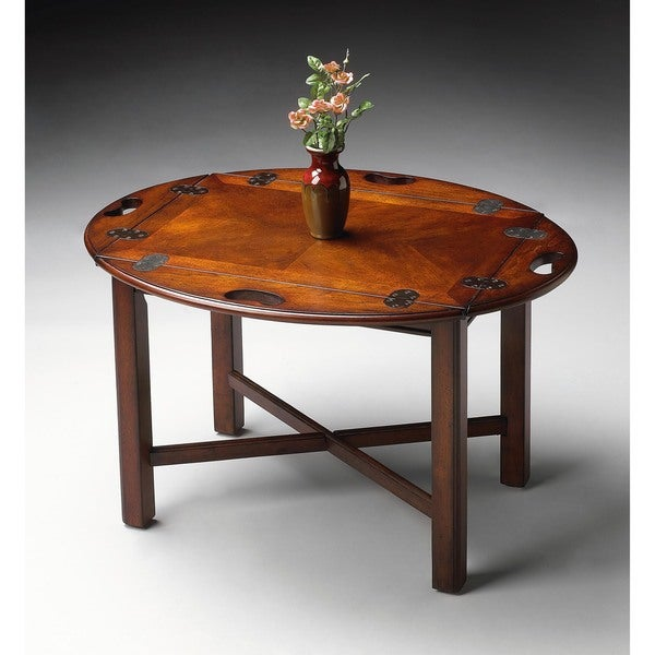 Butler Carlisle Plantation Cherry Wood/MDF Butler Table 19349014