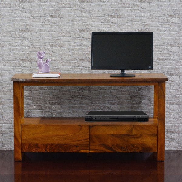 Cayu Live Edge Acacia Two-drawer Media Console