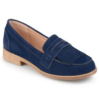 Journee Collection Women's 'Larue' Faux Suede Fringed Loafers