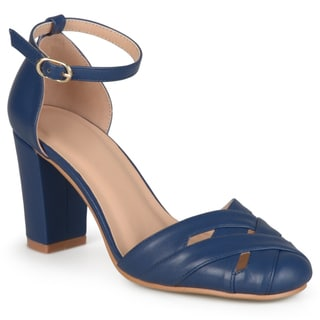 Journee Collection Women's 'Issey' Ankle Strap Round Toe Mary Jane Pumps