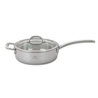 L-12287 Tri-Ply Silver 3.5-quart Saute Pan and Lid
