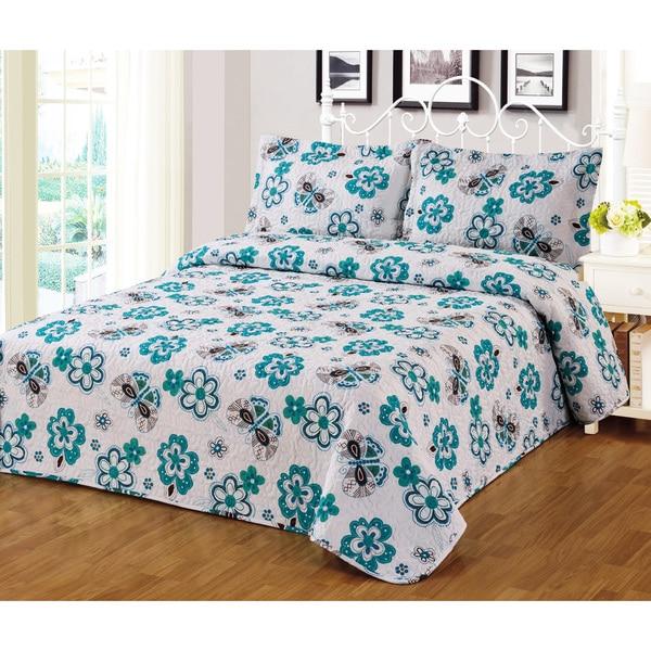 Journee Home 'Osorno' 3 piece Printed Bedspread Set