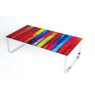 Best Master Furniture Multicolor Glass Coffee Table