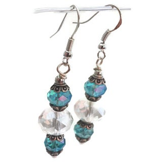 Mama Designs Handmade Beaded Sterling Silver Drop-style Earrings