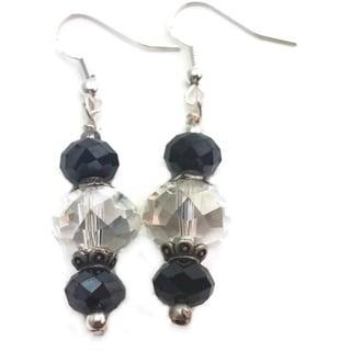Mama Designs Sterling Silver Handmade Beaded Drop-style Earrings