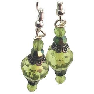 Mama Designs Beaded Sterling Silver Handmade Drop-style Earrings