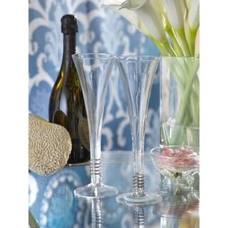 Swirl Design Champagne Flutes