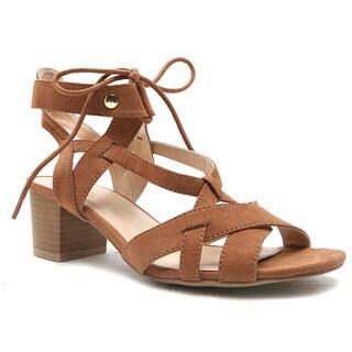 Qupid Women's Kelley-01 Faux Suede Sandal
