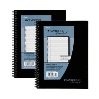 Meadwestvaco Black Cambridge Limited Business Notebook
